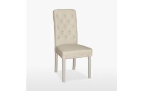 tuoli Buttonn, nahkapäällysteellä