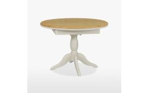 pyöreä ruokapöytä Cromwell, 1 jatkeella, 106/145 cm