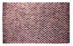 Ruusupuinen kylpyhuonematto, ruskea, 52x90 cm