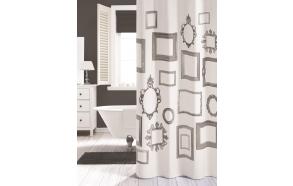 Suihkuverho KADER, tekstiili, valkoinen