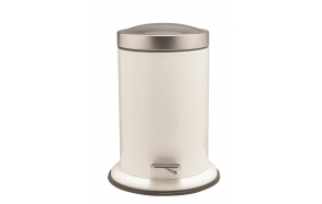 ACERO metallinen roskakori, valkoinen