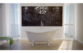 kylpyamme Interia Odelle 160, 180 l, 1600 x 770 mm valkoinen, valkoiset tassut