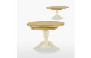 Pyöreä, jatkettava ruokapöytä Coelo yhdellä jatkokappaleella