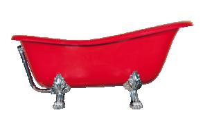 kylpyamme Interia Odelle 160, 180 l, 1600 x 770 mm punainen, kromiset tassut