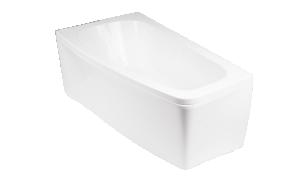 kylpyamme Interia Luno 150R, 150x80 cm, oikea