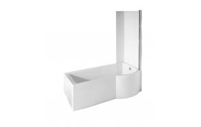 kylpyamme Interia Inspira 170 + ammeseinä, 190 l, 1700 x 790 mm, oikea