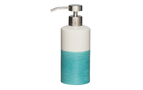 sininen nestesaippua-annostelija DOPPIO, käsin valmistettua keramiikkaa