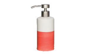 punainen nestesaippua-annostelija DOPPIO, käsin valmistettua keramiikkaa