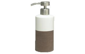 ruskea nestesaippua-annostelija DOPPIO, käsin valmistettua keramiikkaa