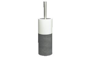 harmaa wc-harja DOPPIO, käsin valmistettua keramiikkaa