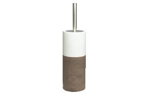 ruskea wc-harja DOPPIO, käsin valmistettua keramiikkaa