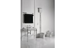 wc-istuin Kerasan Waldorf 1, keraamisella yläsäiliöllä, pronssi