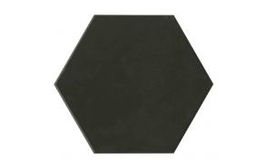 Hexagon Black, glazed porcelain tile, suitable for public use