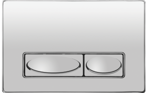 huuhtelupainike Creavit Design, metalli, kromi