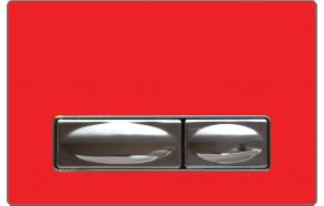 huuhtelupainike Creavit Design punainen, metalli+lasi
