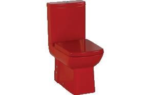 wc istuin Creavit Lara punainen, kaksoishuuhtelu
