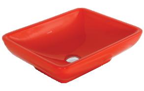 Creavit pesuallas pöytätasolle, punainen, 40x50 cm