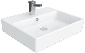 pesuallas Creavit Nexus 40x50 cm, valkoinen