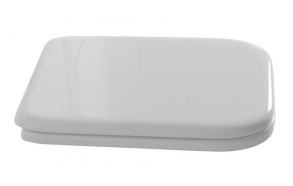 soft close istuinkansi Kerasan Waldorf, valkoinen/pronssi