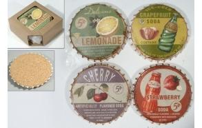 stone coaster Lemonade, 4 pcs