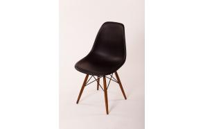 tuoli Alexis, musta, ruskeat pyökkijalat