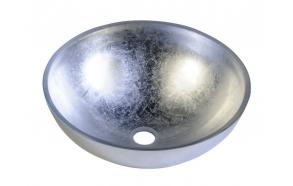 lasiallas Murano työtasoon, hopea