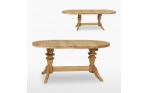 soikea jatkettava ruokapöytä kahdella jatkokappaleella, 160/200/240 cm