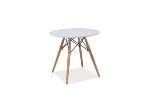 MDF-pöytälevyinen pöytä + puujalat (OSAT 1,2)