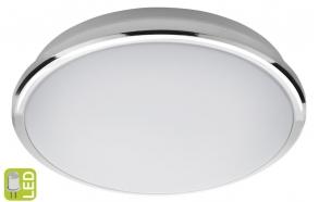 SILVER LED kattovalo 10W, 230V, d. 28cm, kylmä valkoinen, kromi