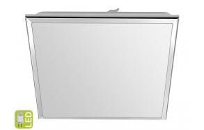 SILVER LED kattovalo 10W, 230V, 28x28cm, kylmä valkoinen, kromi