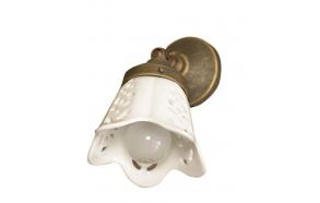 SORENTO valaisin E14 40W, 230V, keraaminen lampunvarjostin, pronssi