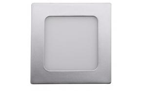 START LED upotettu kattovalo, 6W, 230V, 120x120mm, valkoinen, 430lm, hopea