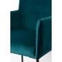 käsinojallinen tuoli Dion Velvet, Petrol