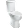 NURGA WC kompakt, 2-süsteemne, tahajooks,valge ilma istmeta