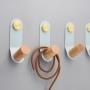 nagi 4x13 cm helesinine/läikiv messing, värvitud metall+puit