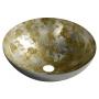 klaasist valamu Murano Anima tööpinnale 40x14 cm, kuld/hõbe