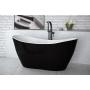 kylpyamme Interia Vilya musta-valkoinen, 170 l, 1600 x 710 mm