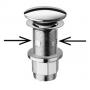 klik-klak -pohjaventtiili, kromi, h 10-80 mm, halk. 64 mm 1 1/4´´