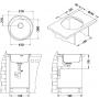 keittiöallas Alveus Form 30, 510x155 mm teksturoitu rst