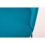 käsinojallinen Norman B, sininen, mustat metallijalat