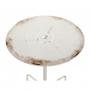pyöreä metallinen vintage-pöytä