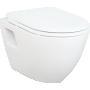 Seinä WC-istuinpaketti Creavit TP 325, täydellinen toimitus, - mattakromi huuhtelupainike