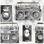 Ghetto Blaster Sidewall, Black / White
