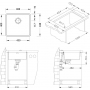 keittiöallas Alveus Kombino 40, 450 x 400 mm rst