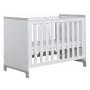 vauvansänky Mini, 120x60, sänkylaatikko ei kuulu hintaan, valkoinen+harmaa