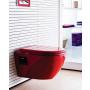 soft-close istuinkansi Creavit TP325, punainen