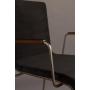 käsinojallinen tuoli Flor, musta