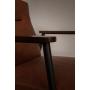 tuoli Fez, vintage ruskea