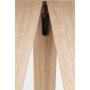 lattialamppu Tripod Wood, musta
