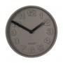 seinäkello Concrete Time, musta